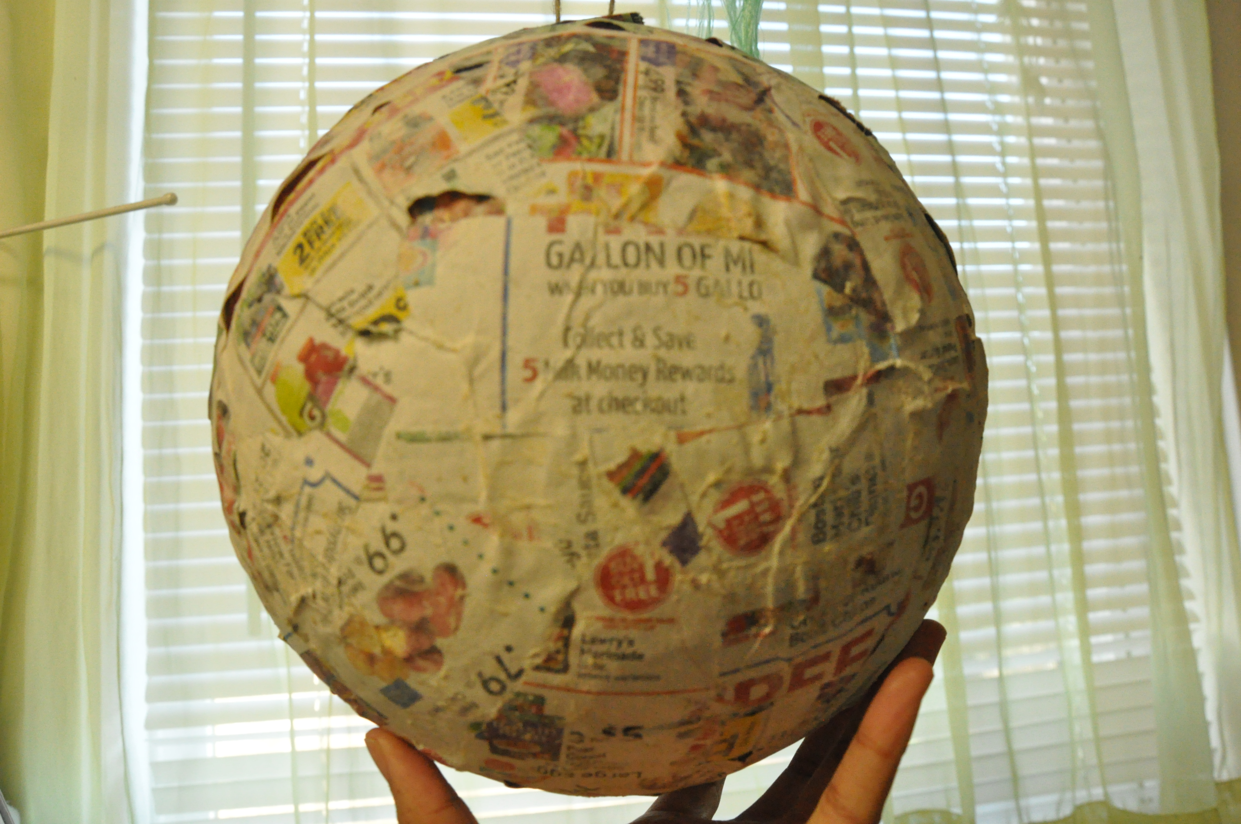 Soccer ball craft ideas - Bottom Of Balloon